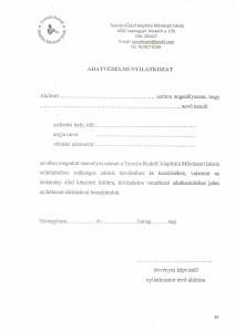 Adatvédelmi nyilatkozat